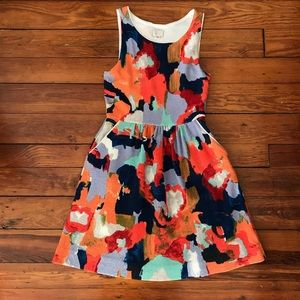 Sleeveless Paint Blotch Dress
